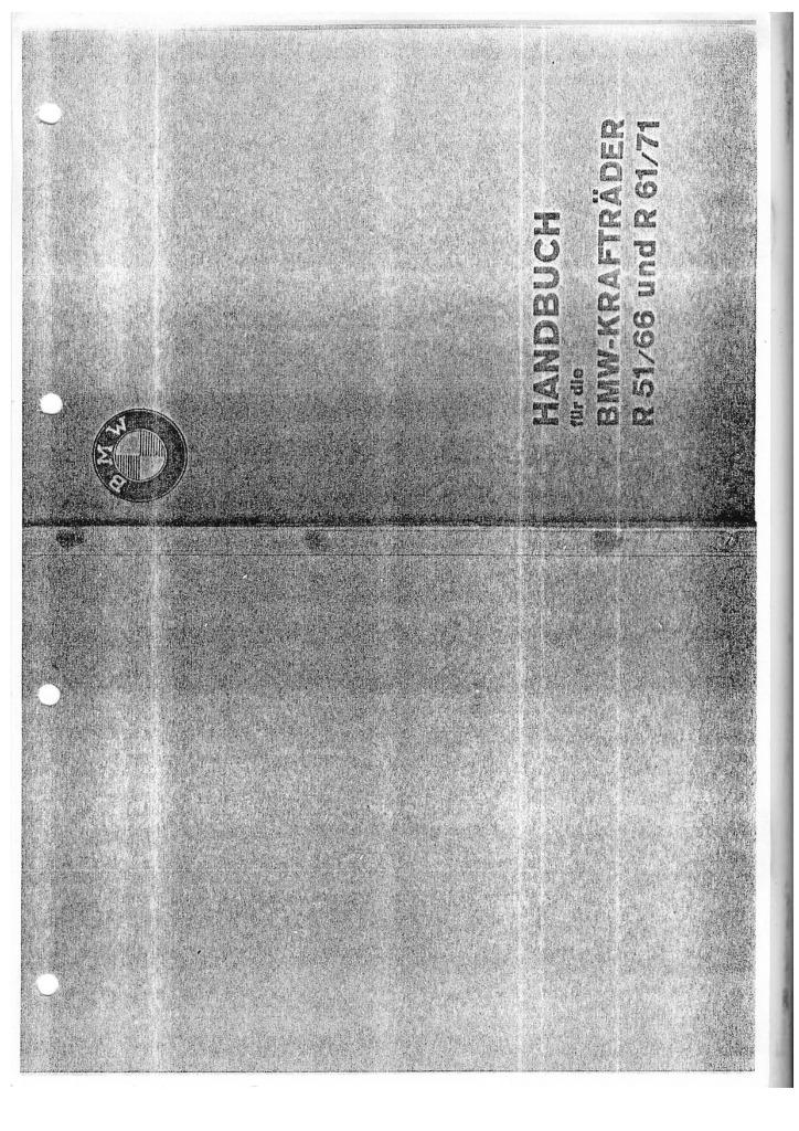 Bmw R51 R61 R66 R71 Baumaster Manual Pdf  5 2 Mb